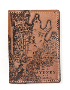 Sydney Map Passport Wallet