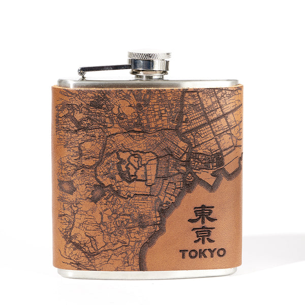 Tokyo Map Flask