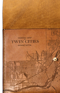 Twin Cities Map Clutch
