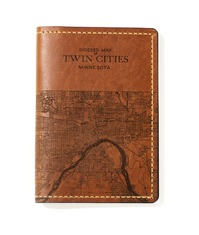 Twin Cities Map Passport Wallet