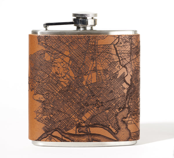 Washington DC Map Flask
