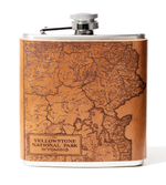 Load image into Gallery viewer, Yellowstone National Park Map Flask