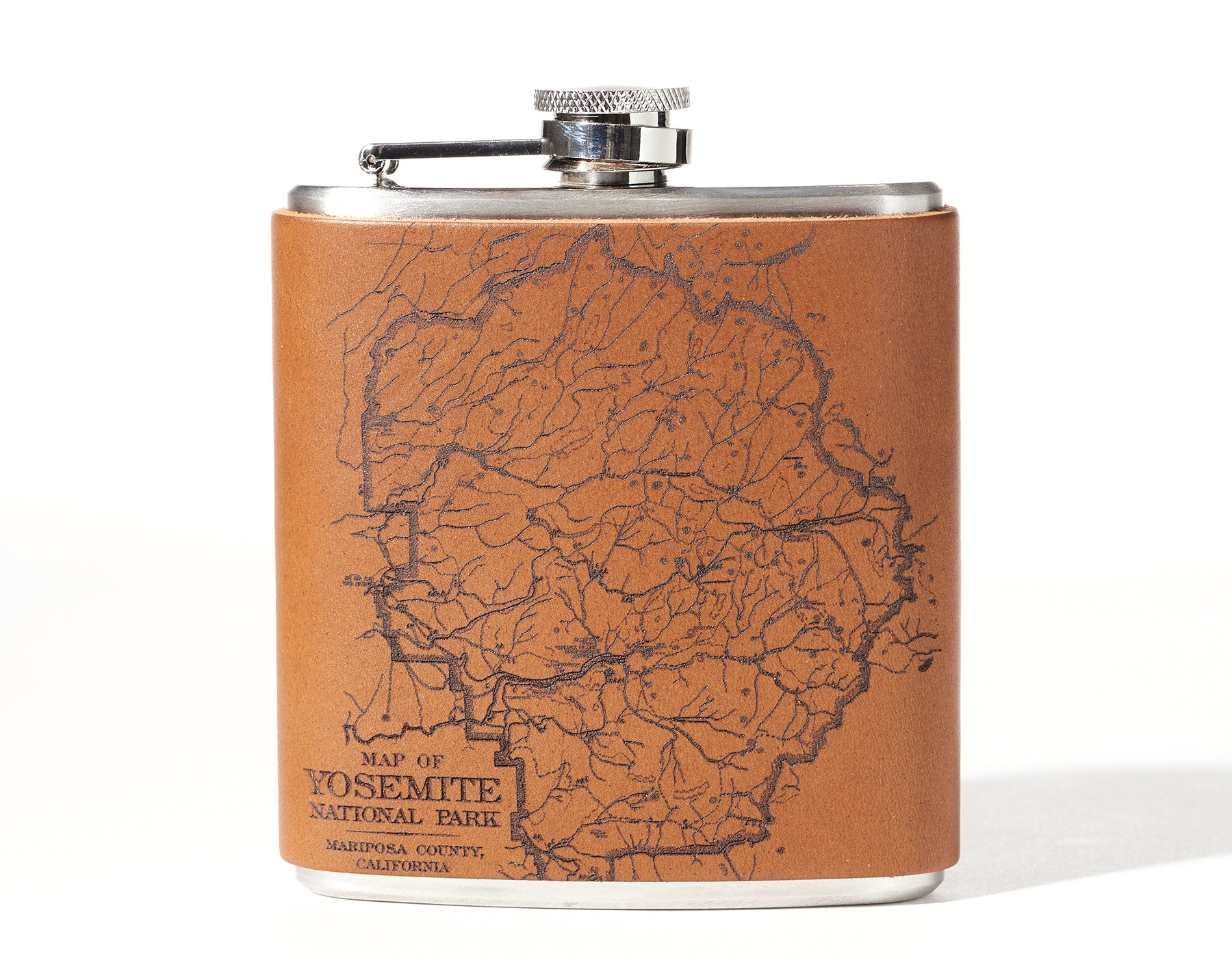 Yosemite National Park Map Flask