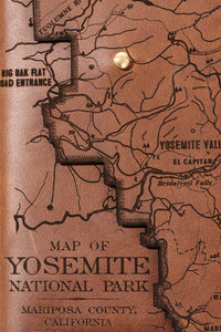 Yosemite National Park Map Journal