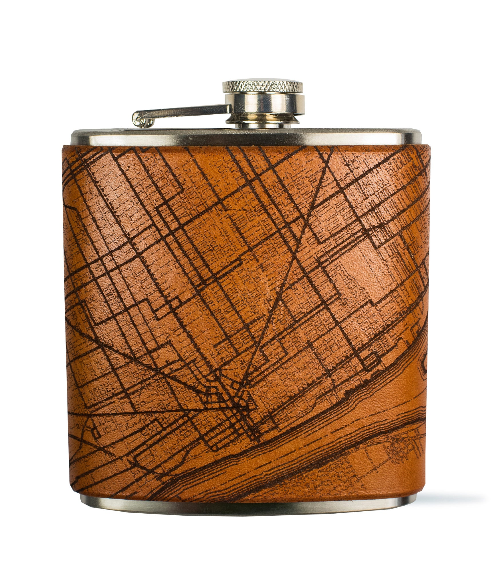 Detroit Map Flask