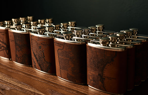 Manhattan Map Flask