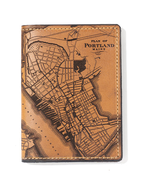 Portland, Maine Map Passport Wallet