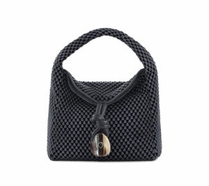 Tissa Fontaneda Uptown Sack shoulder bag/Ash Grey // Black