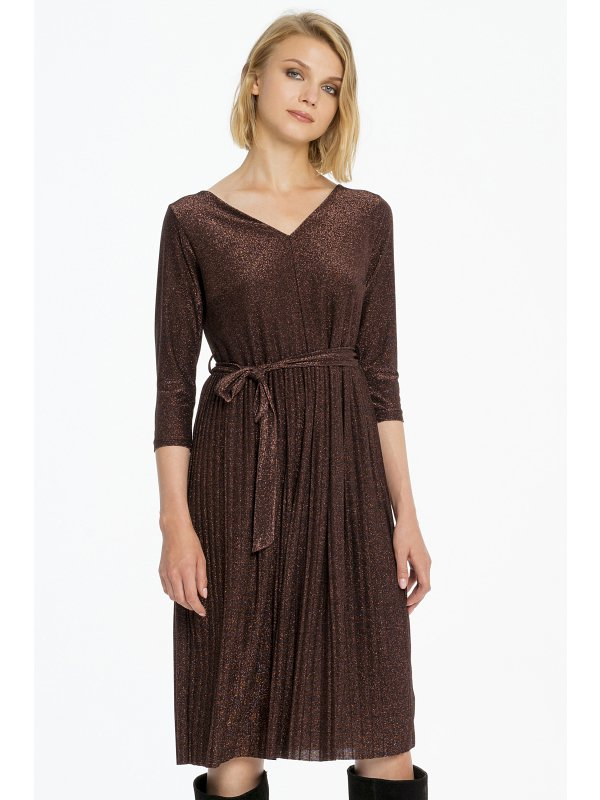 Cannella Kleid Bronze mit Lurex