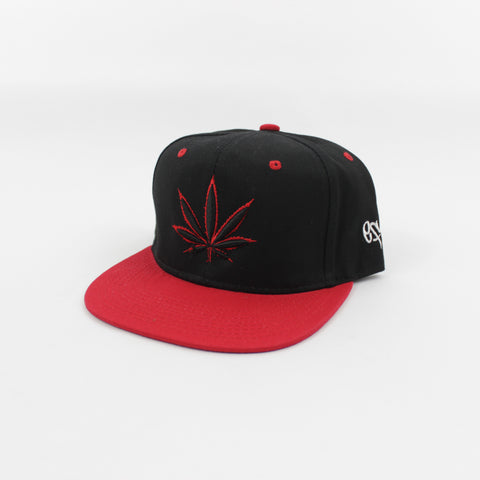 420 Snapback in Black/Red