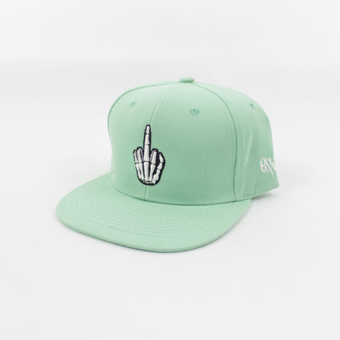 Hand Logo Snapback in Mint Green