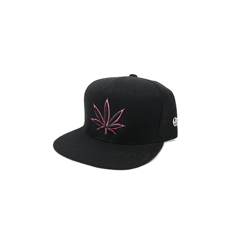 420 Black & Pink Snap Back