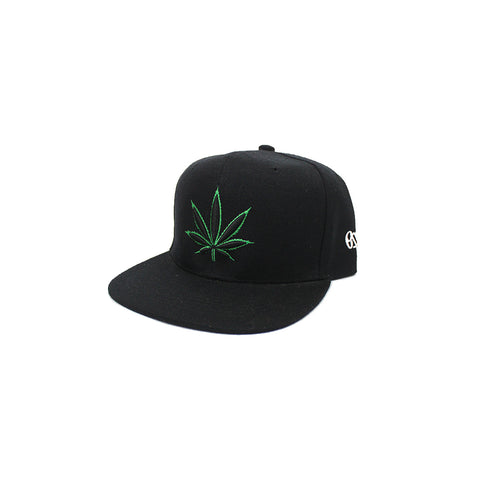 420 Black & Green Snap Back