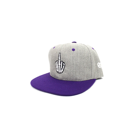 Efue Purple & Silver Snap Back