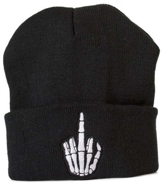Hand Beanie in Black