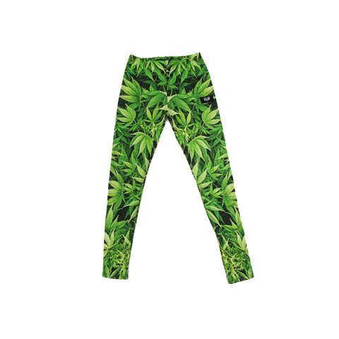 420 Allover Green Leggings