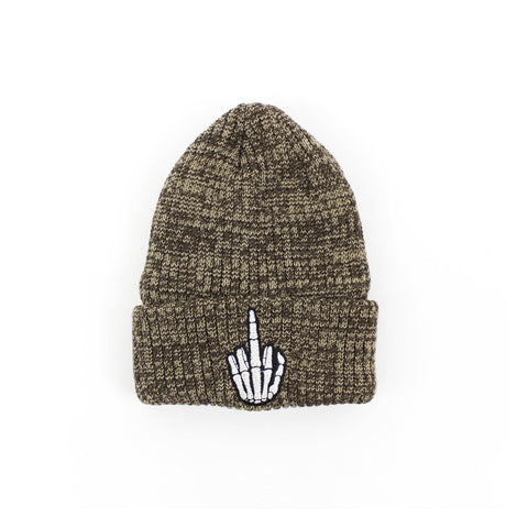 Hand Beanie in Brown