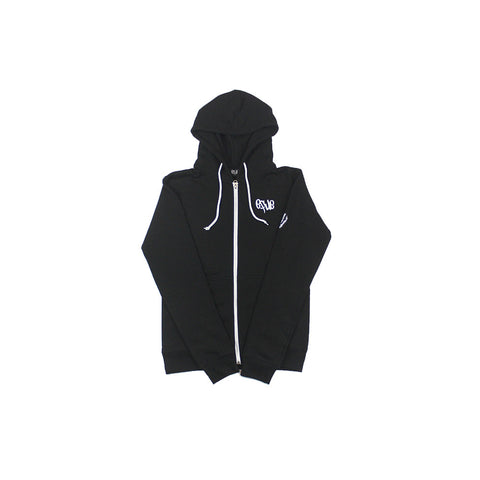 Classic Zip-Up Hoodie in Black