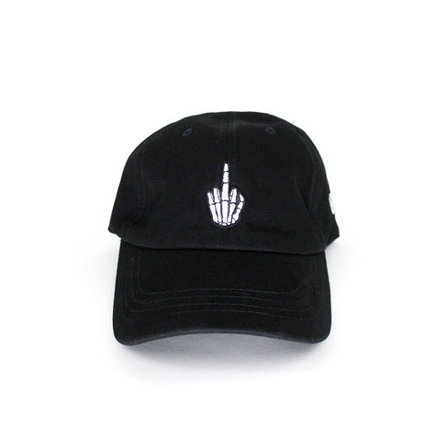 Middle Finger Black Sport Hat