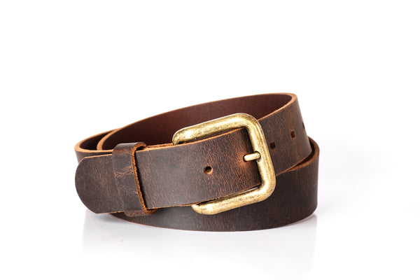 Brown Worn Look Belt 2 Inch Wide 100/% Real Leather Handmade Choice of Buckle