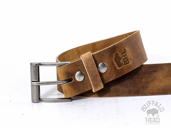 "Full Grain Russet Cowhide Luxury/Casual Leather Belt Hand Made in USA 1 1/2"" Wide Free Shipping"