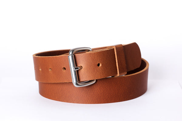 "Full Grain Genuine Buffalo Russet Color Casual/Dress Belt 1 1/2"" Wide Handmade"