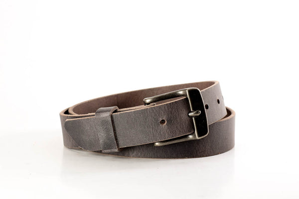 """Hand Made USA BROWN with Black Edges 1/"""" Dress LEATHER BELT 44 46"""