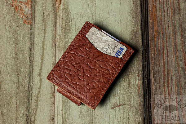 American Bison Magnetic Money clip Wallet - Rich Brown - Made in USA