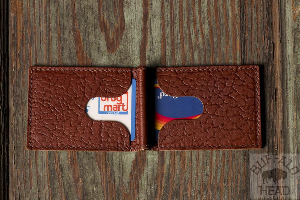 American Bison Comfort Slim Mini Wallet - Rich Brown - Hand Made