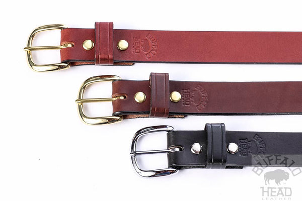 "English Bridle Leather 1 1/4"" Dress/Casual belt - Rich Brown - Hand Made in USA - Free Shipping"