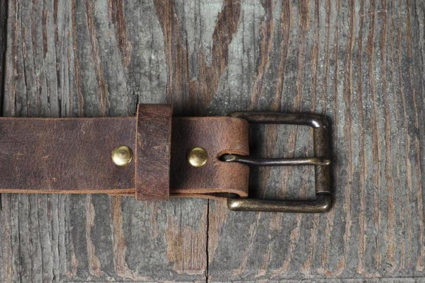 Full Grain Buffalo 1 1 2 Quot Distressed Leather Casual Belt