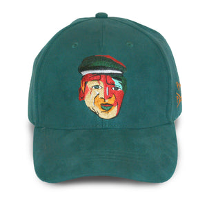 forest green strapback hat
