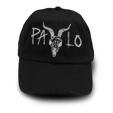 Distressed Goat Head Cap (Black)