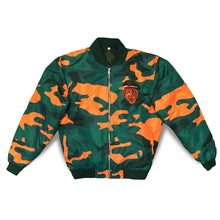 Bomber Jacket (Green & Orange Camo)