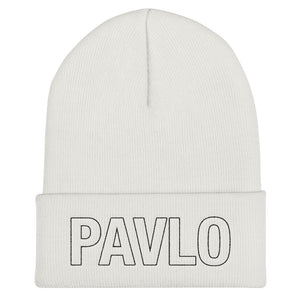 MBP Outline Cuffed Beanie (white)