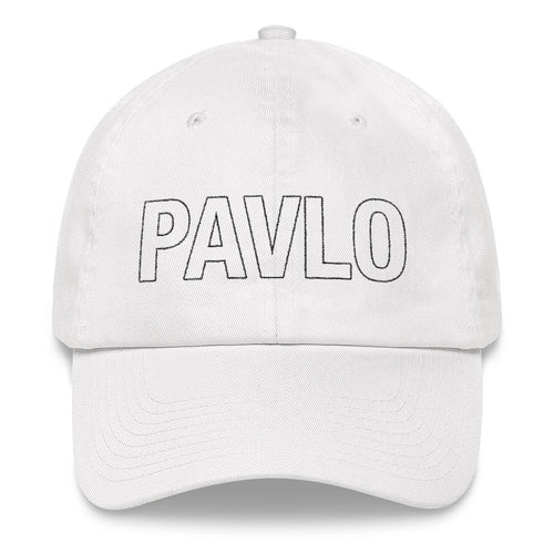 MBP Outline Dad Hat (White)
