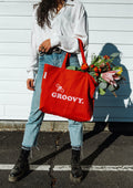 Bee Groovy Tote Bag
