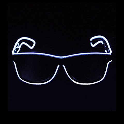 Illuminated Neon EL Wire Eyeglasses for Diner en Blanc