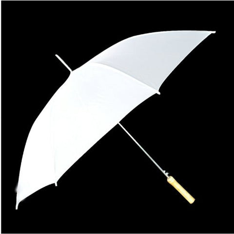 "White Umbrella with 48"" Span"