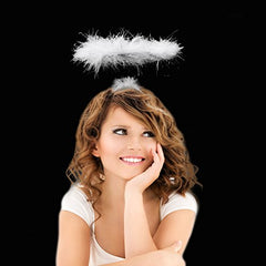 Angel Halo Headband with White LED Lights