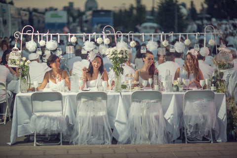 Post / Hanging Support for Diner en Blanc Table Decorations