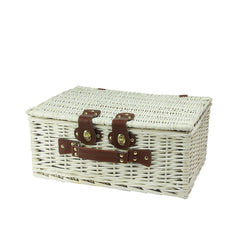 Large White Willow Picnic Basket for Diner en Blanc