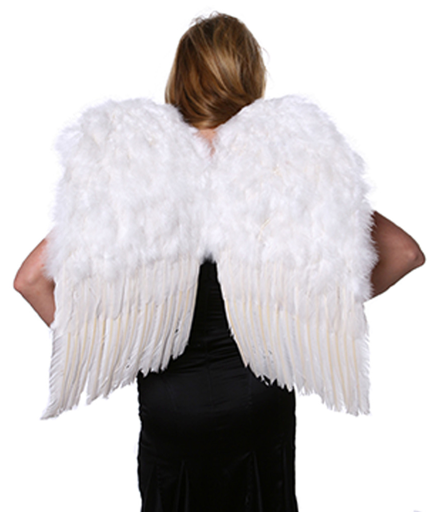 Angel Wings Hand-Crafted with White Feathers
