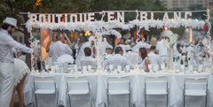 White Feather Boa for Diner en Blanc