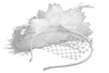 Image of White Feather Fascinator for Diner en Blanc