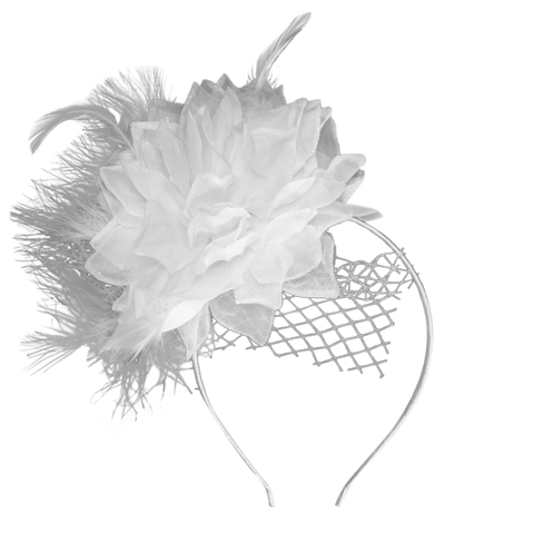 White Feather Fascinator for Diner en Blanc