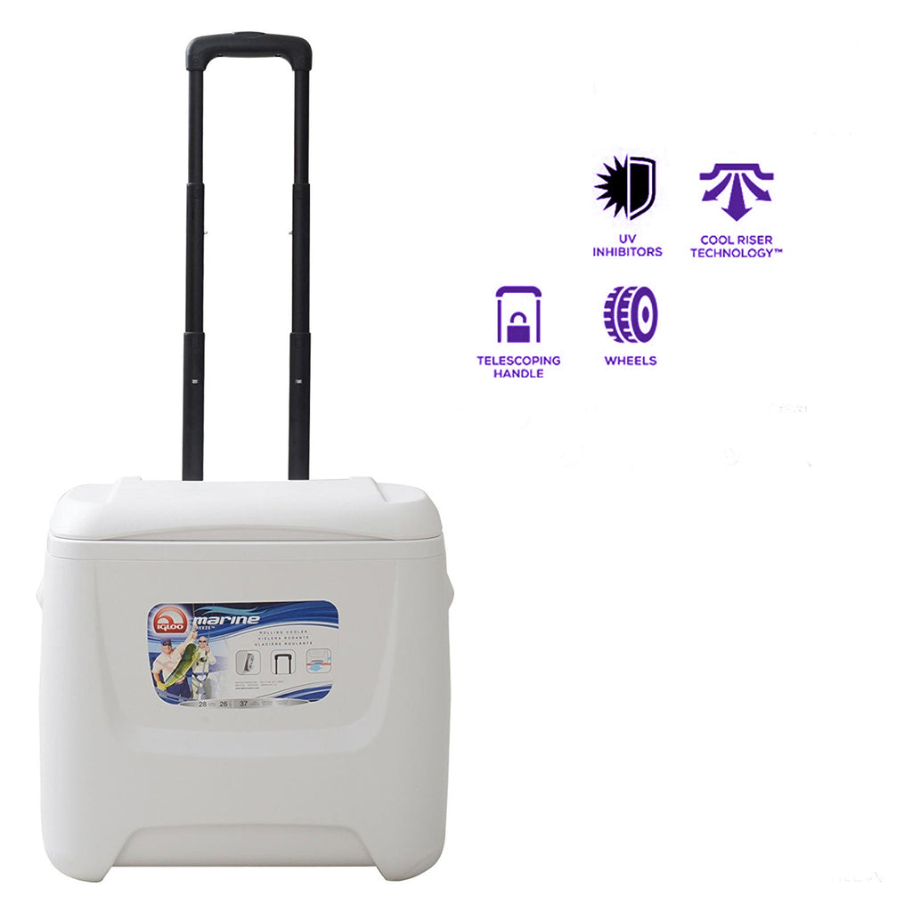 White Cooler on Wheels for Diner en Blanc - Compact Version