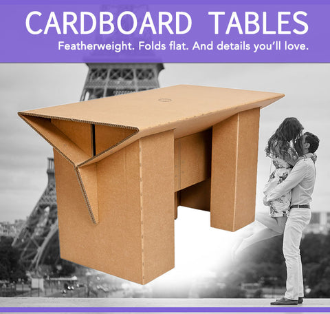 Cardboard Folding Table for Diner en Blanc Paris