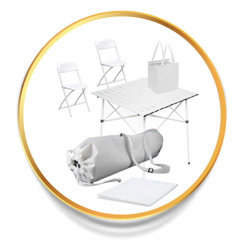 Table & Chairs - Premium Kit for Diner en Blanc