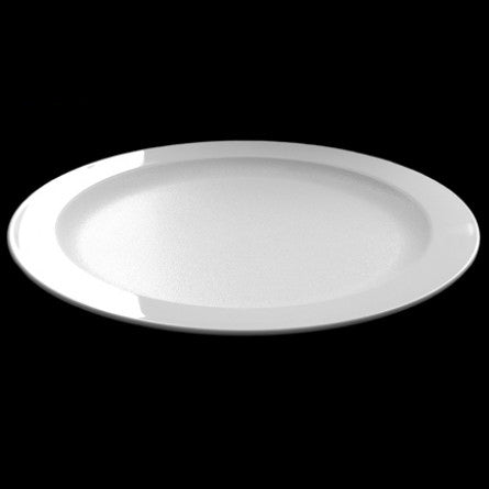 Elegant White Unbreakable Plastic Dinner & Dessert Plates Set for Diner en Blanc